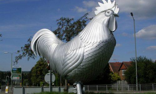 Dorking chickent statue