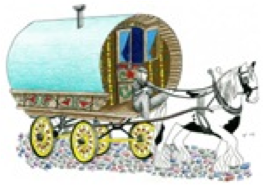 gypsy and traveller wagon logo