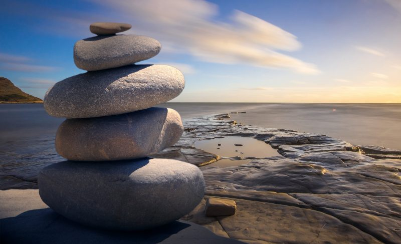 Pile of stones on a beach