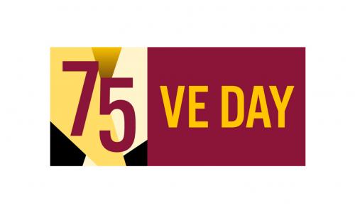 75 VE Day logo