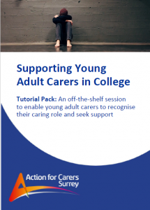 Cover of pack Supporting Young Adult Carers in College