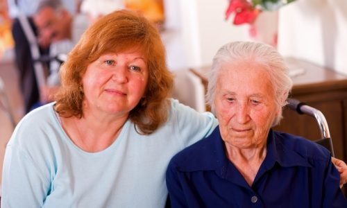 carer with mother with dementia