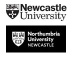 University logos Newcastle and Northumbria
